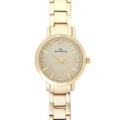 RJR.John Rocha - Ladies designer gold mini dial watch