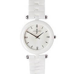 J by Jasper Conran - Designer ladies white ceramic T-bar strap watch