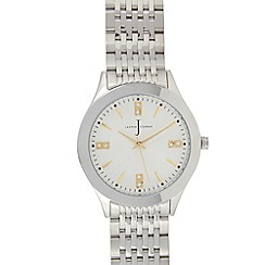 J by Jasper Conran - Designer ladies stainless steel Swarovski crystal detail bracelet watch