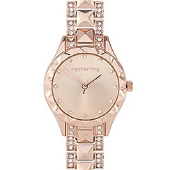 Red Herring - Ladies rose crystal pyramid watch