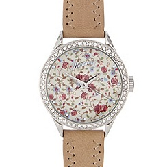 Mantaray - Ladies dark cream floral dial watch