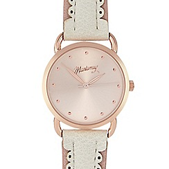 Mantaray - Ladies white scalloped strap watch