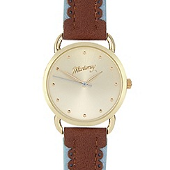 Mantaray - Ladies tan scalloped strap watch