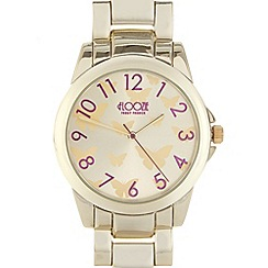 Floozie by Frost French - Ladies gold butterfly watch