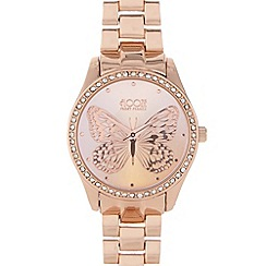 Floozie by Frost French - Ladies rose gold butterfly watch