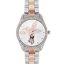 Floozie by Frost French - Ladies silver hummingbird watch