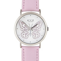 Floozie by Frost French - Ladies light pink laser cut butterfly watch