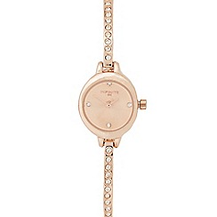 Infinite - Ladies rose gold plated diamante cuff bracelet watch