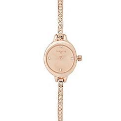 Infinite - Ladies rose gold plated diamante cuff bracelet watch