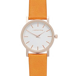 Red Herring - Ladies orange colour pop analogue watch