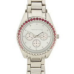 Red Herring - Ladies stainless steel ombre stone bezel watch