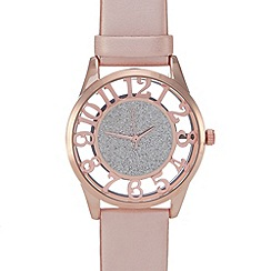 Red Herring - Ladies rose glitter dial watch
