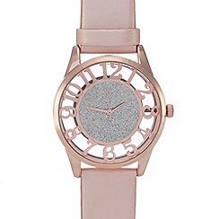 Red Herring - Ladies rose glitter dial watch