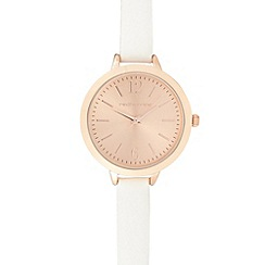Red Herring - Ladies white analogue watch