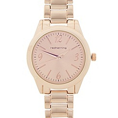Red Herring - Ladies rose gold plated iridescent dial watch