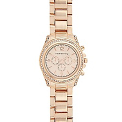 Red Herring - Ladies rose gold crystal bezel