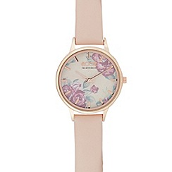 Floozie by Frost French - Ladies pale pink floral dial watch