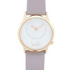 Principles by Ben de Lisi - Ladies designer pale pink leather strap watch