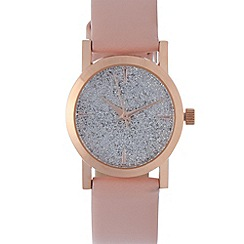 Red Herring - Ladies pink glitter dial watch