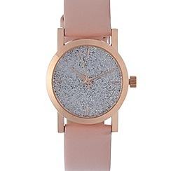 Red Herring - Ladies pink glitter dial watch