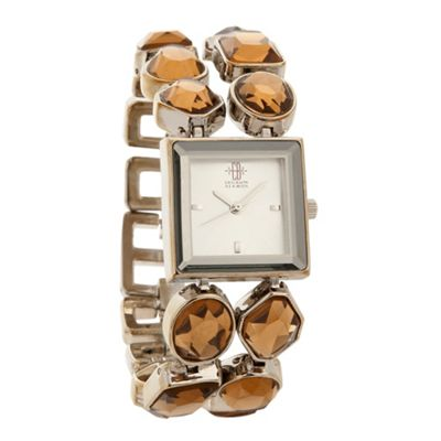 EB by Erickson Beamon Women's silver chunky jewel bracelet watch