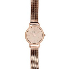 Principles by Ben de Lisi - Designer ladies rose mesh strap watch