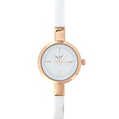 Principles by Ben de Lisi - Designer ladies white skinny watch