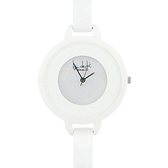 Principles by Ben de Lisi - Designer ladies white patent watch