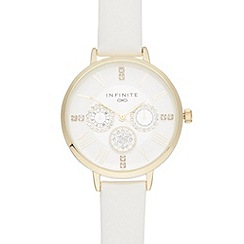 Infinite - Ladies white crystal watch