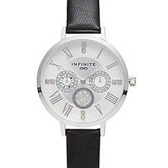 Infinite - Ladies black crystal watch