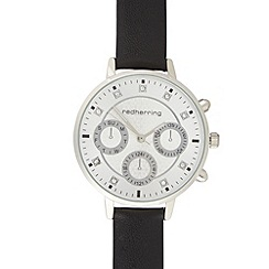 Red Herring - Ladies black chronograph watch