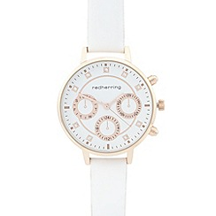 Red Herring - Ladies white mock multi dial watch