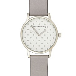 Red Herring - Ladies mauve polka dot watch