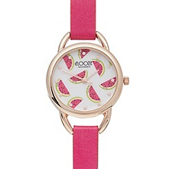 Floozie by Frost French - Ladies pink melon dial analogue watch