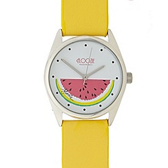 Floozie by Frost French - Ladies yellow melon dial watch