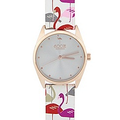Floozie by Frost French - Ladies white flamingo strap watch