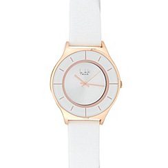 Principles by Ben de Lisi - Designer ladies white leather strap watch