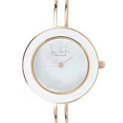 Principles by Ben de Lisi - Designer ladies white enamel bangle watch