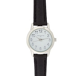 Infinite - Ladies black numbered dial watch