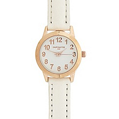 Infinite - Ladies white numbered dial watch