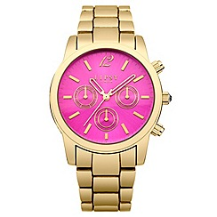 Lipsy - Ladies gold tone bracelet watch