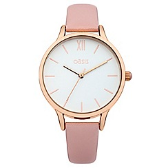 Oasis - Ladie's nude strap watch with white dial