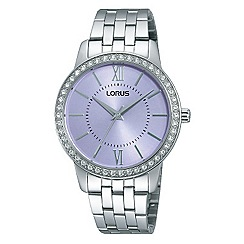 Lorus - Ladies Lorus Sparkle Collection white bracelet watch with subtle lavendar dial