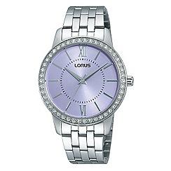 Lorus - Ladies Lorus Sparkle Collection white bracelet watch with subtle lavendar dial