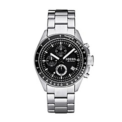 Fossil - Men's silver chronograph dial bracelet watch