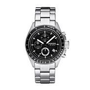 Men's silver chronograph dial bracelet watch
