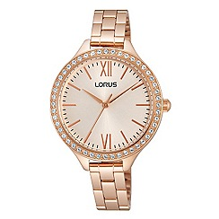 Lorus - Ladies Lorus Sparkle Collection rose gold bracelet watch