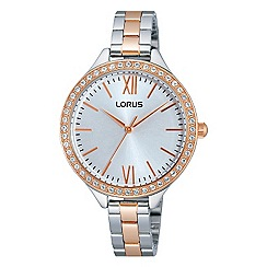 Lorus - Ladies Lorus Sparkle Collection two tone rose gold/silver bracelet watch
