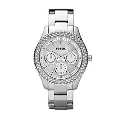 Fossil - Ladies silver bezel multi dial watch