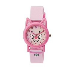 Tikkers - Tikkers pink silicone strap cat watch